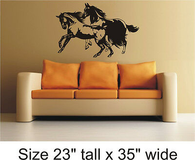 Horse Silhouette Bedroom, Drawing Room Wall Vinyl Sticker Decal Decor - 1249
