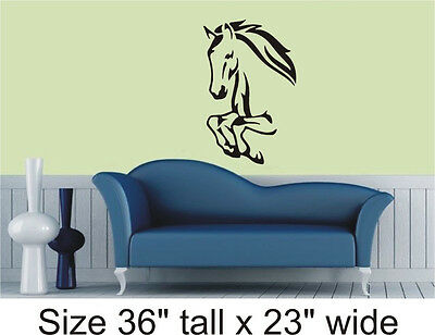 Horse Silhouette Bedroom, Drawing Room Wall Vinyl Sticker Decal Decor- 1251