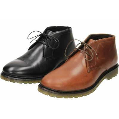 Red Tape Lace Up Leather Air Cushion Ankle Boots Chukka Formal Casual Shoes