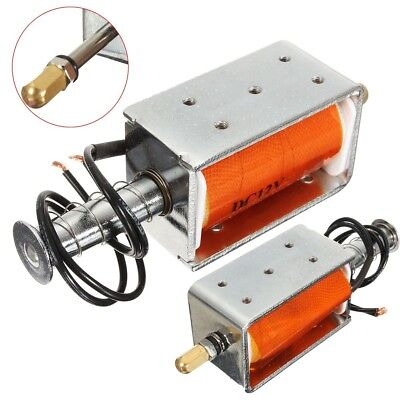 DC 12V Small Electromagnetic Electric Magnet 35mm Long-Stroke Push-Pull Solenoid