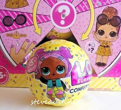 NEW Authentic SERIES 3 Confetti Pop Big Sisters LOL 9 Surprise DOLL 1 Ball HTF
