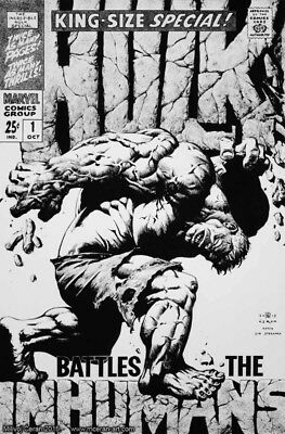 STERANKO HULK homage cover - original art by Milivoj Ceran!