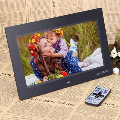 US 10'' LCD Full HD Digital Photo Picture Frame Alarm MP3/4 Player+Contorl Z0I9
