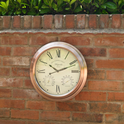"Large 15"" copper vintage style wall hanging clock vintage home Kitchen"