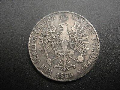 1859 A Prussia/Germany Silver Thaler