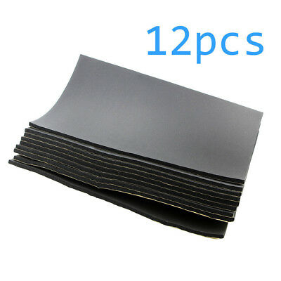 12Sheets 10mm Car Auto Van Sound Proofing Deadening Insulation Opened Cell Foam