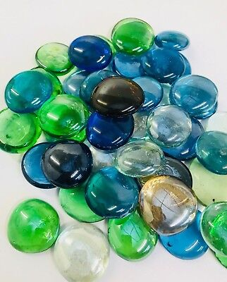 Colour Assorted Glass Round Pebbles/beads/stones Vase Decorative Home & Weddings