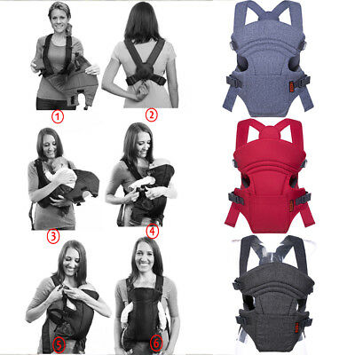Infant Cuddle Up Adjustable Head Support Ergonomic Carrier Grey Baby Carry Strap