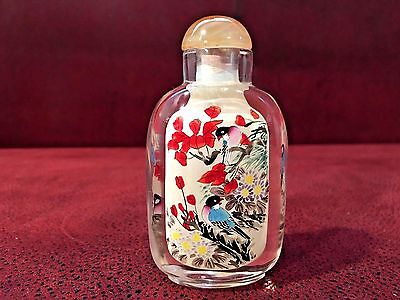 Beautiful Chinese Inside Painted Glass Snuff Bottle