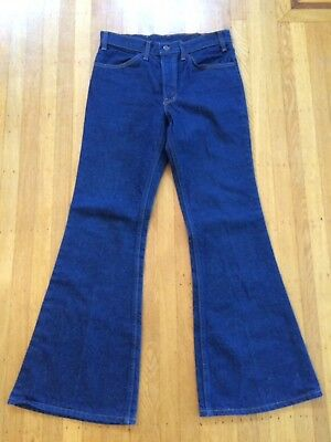 Vintage Levi's 1970's Bell Bottom Jeans 684 Orange tab 70's 32 x 32