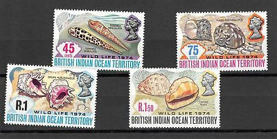Lot of 4 British Indian Ocean Territory MNH Mint Stamps Scott # 59-62 #117007 X