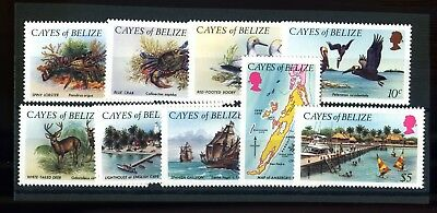 Lot of 9 Cayes of Belize MNH Mint Never Hinged Stamps Scott # 1-9 #116934 X