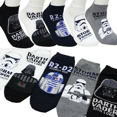 Men's 5pk Star Wars Darth Vader R2-D2 Storm Trooper Low-cut Character socks