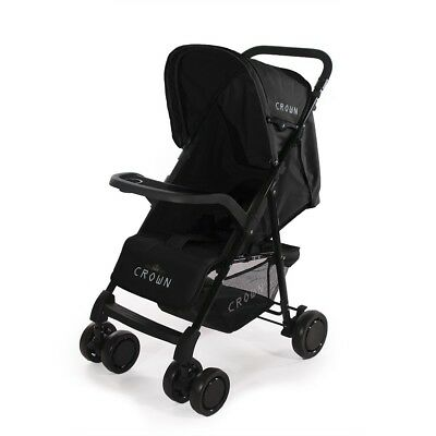 Superleichter Genial Micro Buggy CROWN Kinderwagen Kinderbuggy Sportwagen BLACK