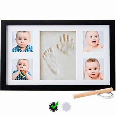 Baby Handprint Kit by Little Hippo - Baby Picture Frame Clay Kit DELUXE EDITION