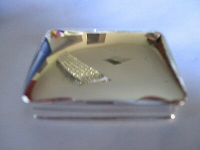 Large Sterling Silver Pill box Rectangle shape solid 925 silver Hallmarked 31.2g