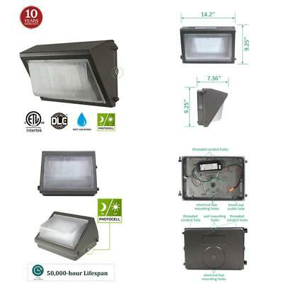 Led Wall Pack With Dusk-To-Dawn Photocell 60W Waterproof Outdoor Commercial New