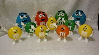 M&M's Mini Candy Dispensers & Containers Lot Of 11