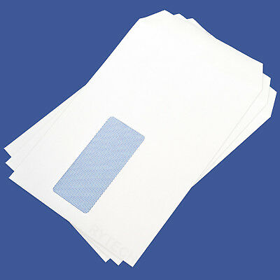 500 X White C5 / A5 Window Self Seal Envelopes 90GSM Opaque Letter Quality Box