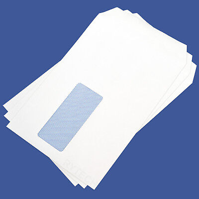 100 X White C5 / A5 Window Self Seal Envelopes 90GSM Opaque Letter Quality Mail