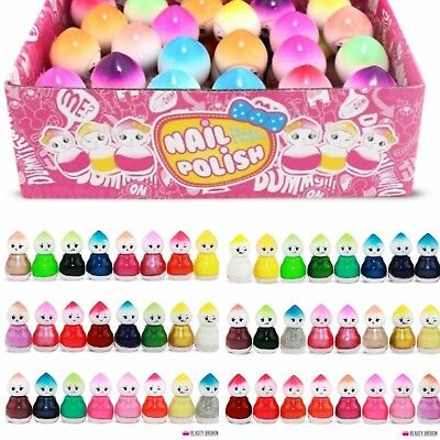 Box 24 Baby doll nail polish gift set / varnish kit wholesale joblot beauty bulk