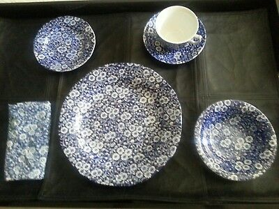 Staffordshire Crownford England - Burleigh Calico - Service for 16