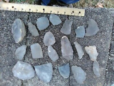 Indiana Hornstone Flint for Knapping! & extra's point's & blades  (7)