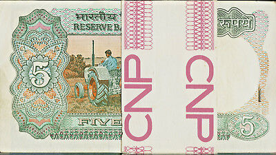 INDIA Reserve Bank 2, 5, &  20  Rupees THESE ARE ALMOST UNC OR UNC STAPLE HOLES