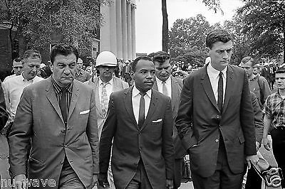 1862- James Meredith Walking to Class with US Marshals-University of Mississippi