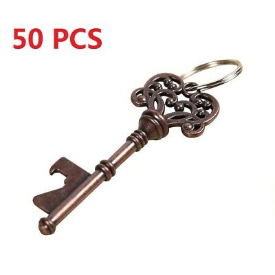 50pcs Vintage Skeleton Key Bottle Opener Beer Wedding Bridal Shower Favor Tool
