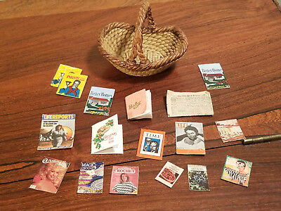 Vintage Set of 18 Various Doll House Furniture And Accessories