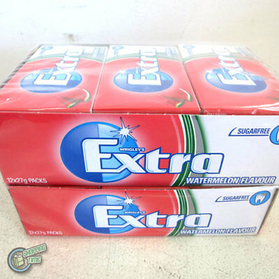 Wrigley's EXTRA Watermelon FLAVOUR SUGARFREE CHEWING GUM BulkBox 24x14pcs Aqua