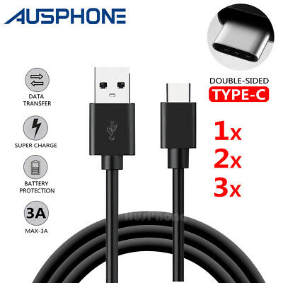 Rapid 3A Charging Type-C USB C Data Sync Cable Cord Charger Samsung S9+ Google