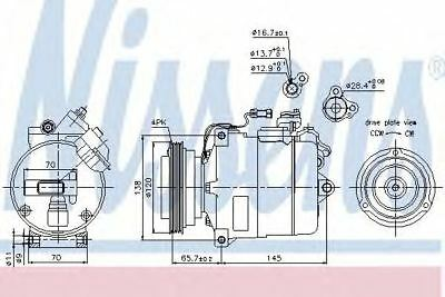 Next working day to UK! Nissens 89027 Air-con Compressor