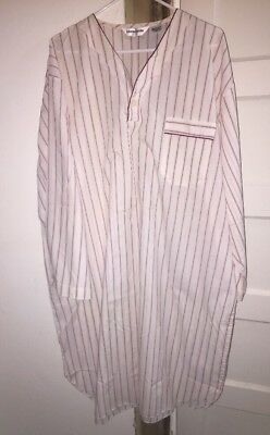 Vtg Pierre Cardin MENS Maroon LONG SLEEVE NIGHTSHIRT SLEEPSHIRT Large/XLarge