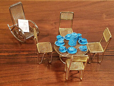 Vintage Set of 25 Various Doll House Furniture And Accessories