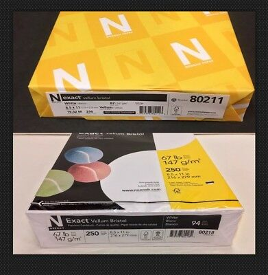 Neenah White Card Stock 67lb 8.5x11 250 Sheets New in Package