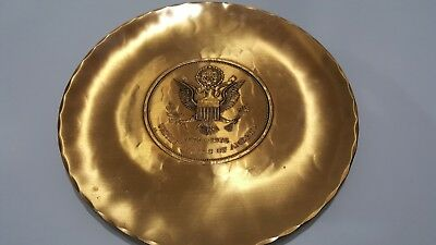 WENDELL AUGUST FORGE SOLID BRONZE PLATE USA Bicentennial 1776-1976