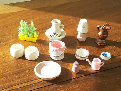 Vintage Set of 12 Various Doll House Furniture And Accessories
