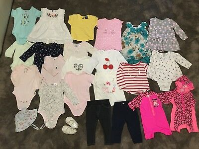 BULK LOT Baby Girl Clothes Size 0 Brands Incl Sprout, Jack & Milly, Fox & Finch