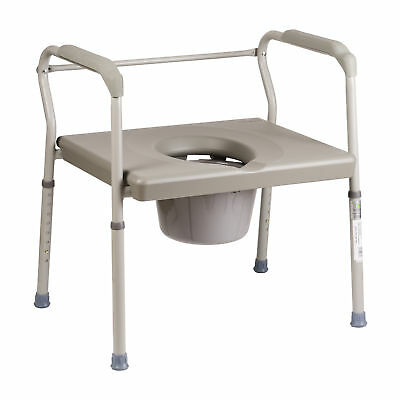 Extra Wide Toilet Seat Portable Safe Frame Raised Adjustable Leg Slip Resistant