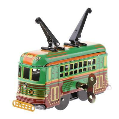 Classic Clockwork Wind Up Tram Trolley Model Automotive Collections Tin Toy