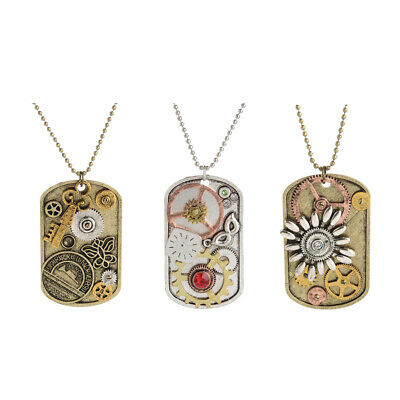 Gothic Steampunk Necklace Watch Parts Gear Pendants Charm Vintage Jewelry