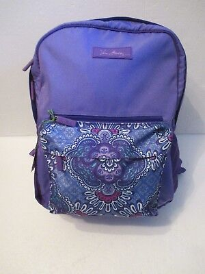Vera Bradley Large Colorblock Back Pack Lilac Tapestry Purple New