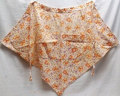 Old Vintage Hand Made Apron Girl w Balloons Bubble Design One Pocket Two Opening