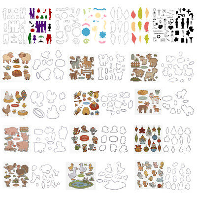 Clear Silicone Stamp+Metal Cutting Dies Stencil DIY Scrapbooking Card Paper Gift