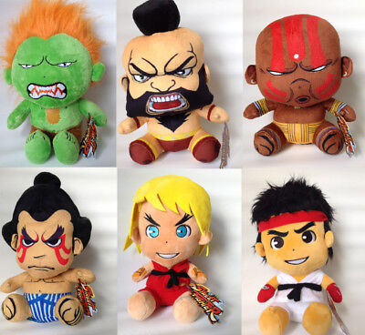 Street Fighter Characters Soft Plush Toy. Arcade Video Game Gift Capcom