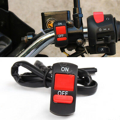 "7/8"" Handlebar Motorcycle Spot Fog Light Headlight ON-OFF Kill Switch Button 12V"