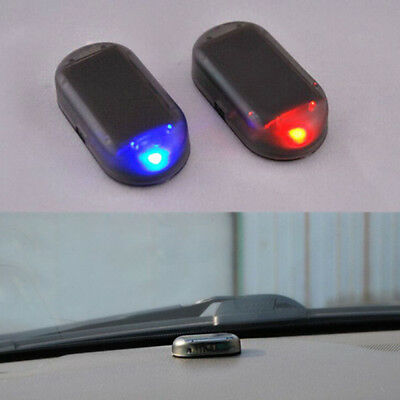 Car Solar Simulation Virtual AlarmWarning Burglar Warn Analog Flash LED lights