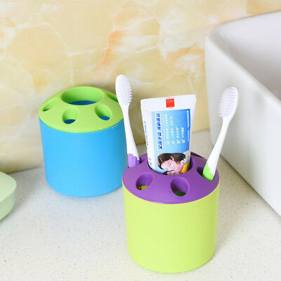 Bathroom Toothbrush Toothpaste Holder Makeup Brush Vase Storage Rack Brush Pot